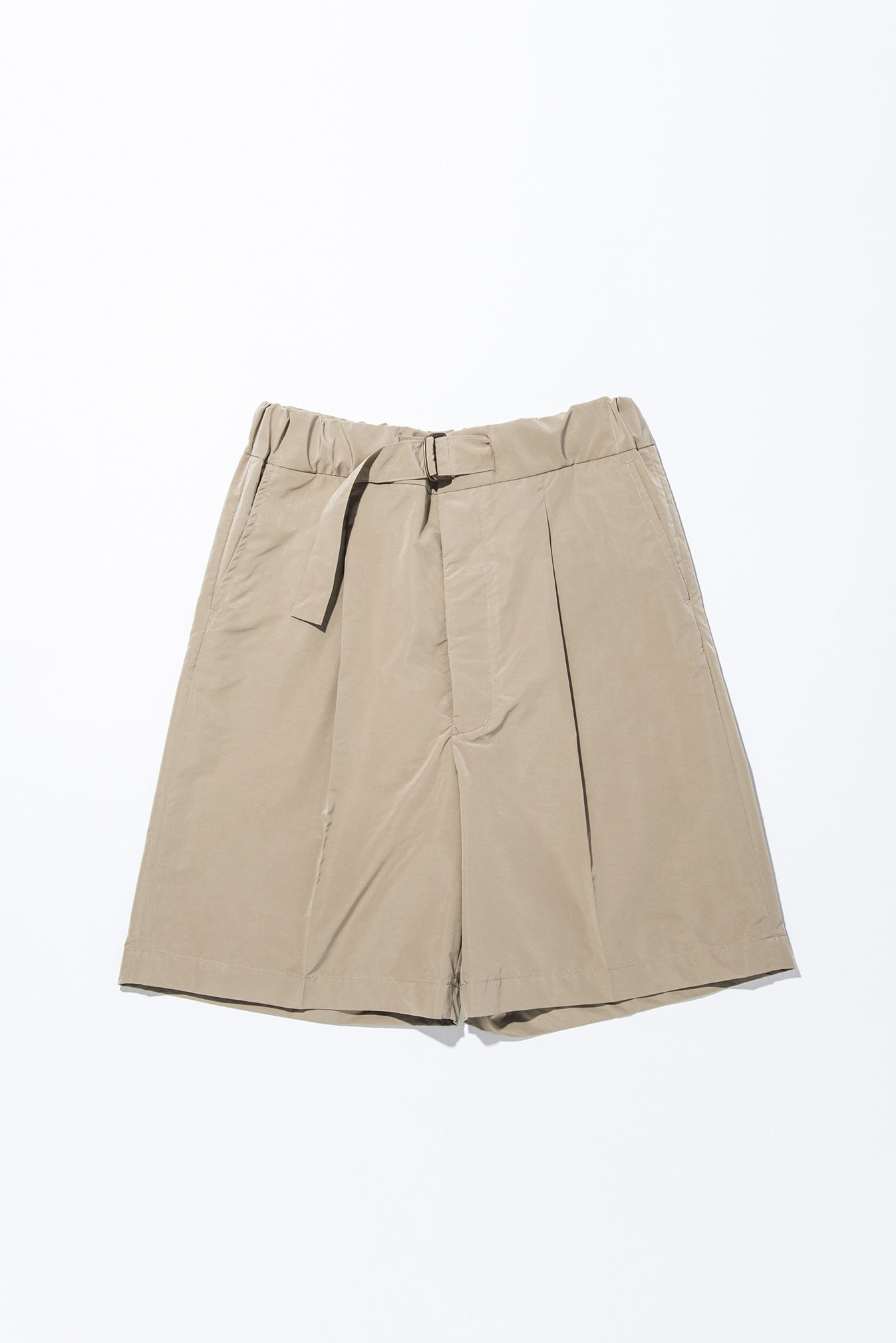 UNITUS(ユナイタス) SS17 Belted Easy Shorts Beige