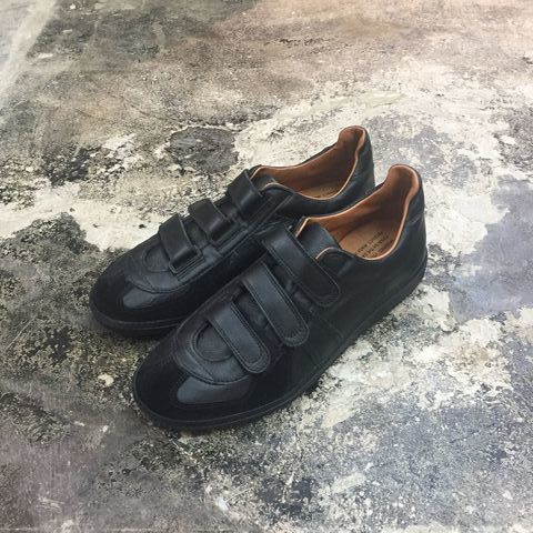 REPRODUCTION OF FOUND(リプロダクションオブファウンド) 1703L/GERMAN MILITARY TRAINER-VELCRO BLACK/BLACK/SOLE(N)