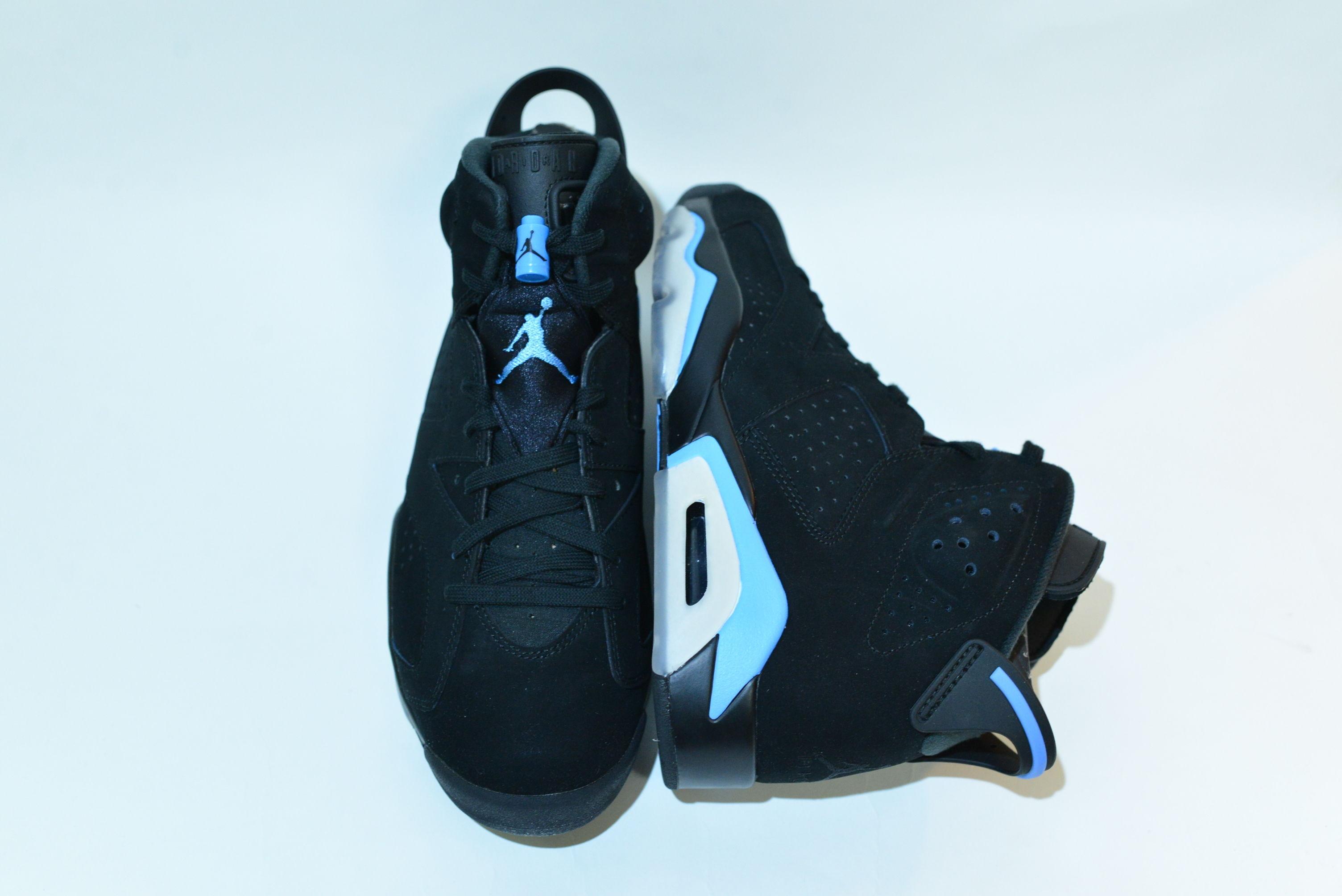 NIKE AIR JORDAN 6 RETRO / BLACK / UNIVERSITY BLUE / 27.5cm