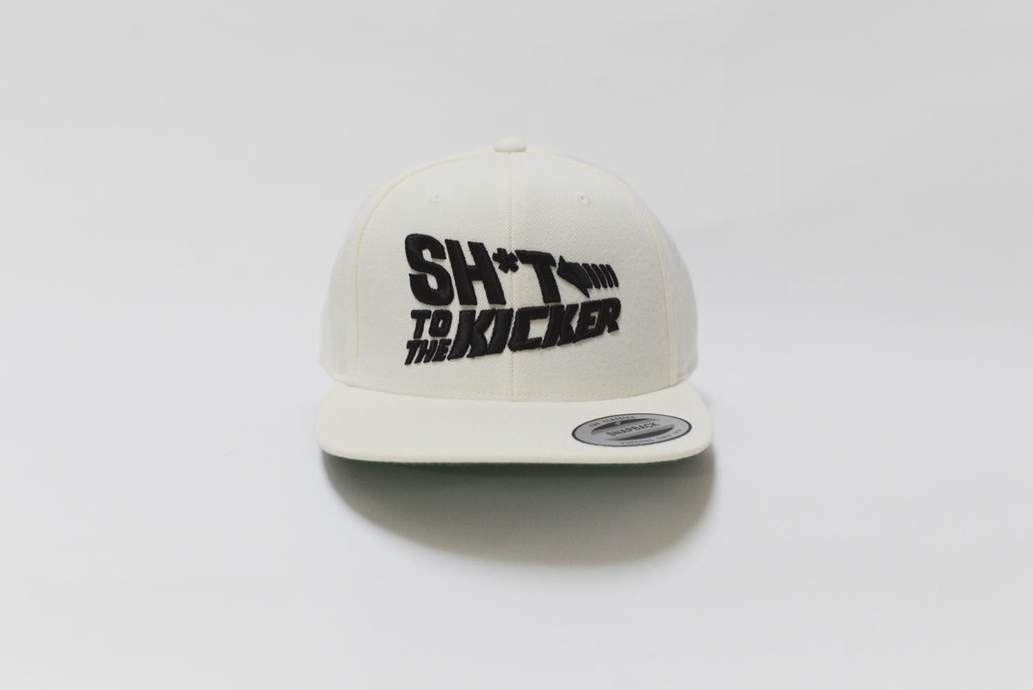 SH*T KICKER SH*T TO THE KICKER SNAP BACK WHITExBLACK
