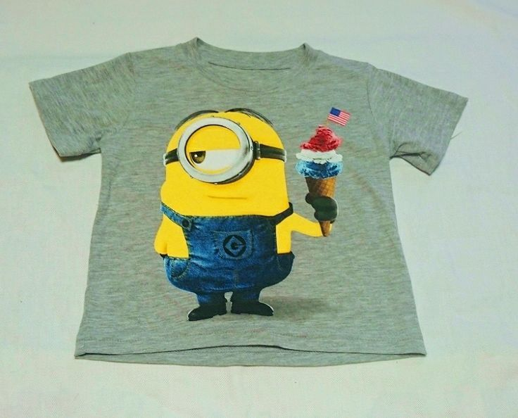 Hybrid*DESPICABLE ME 2 Short sleeved T-shirts(GY)