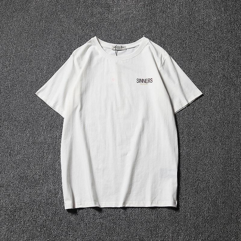 バレンシアガ BALENCIAGA  Basic Tee   メンズ ロゴ半袖Tシャツ カットソー 夏ウェア 半袖 tee   クルーネック 男女兼用 2色
