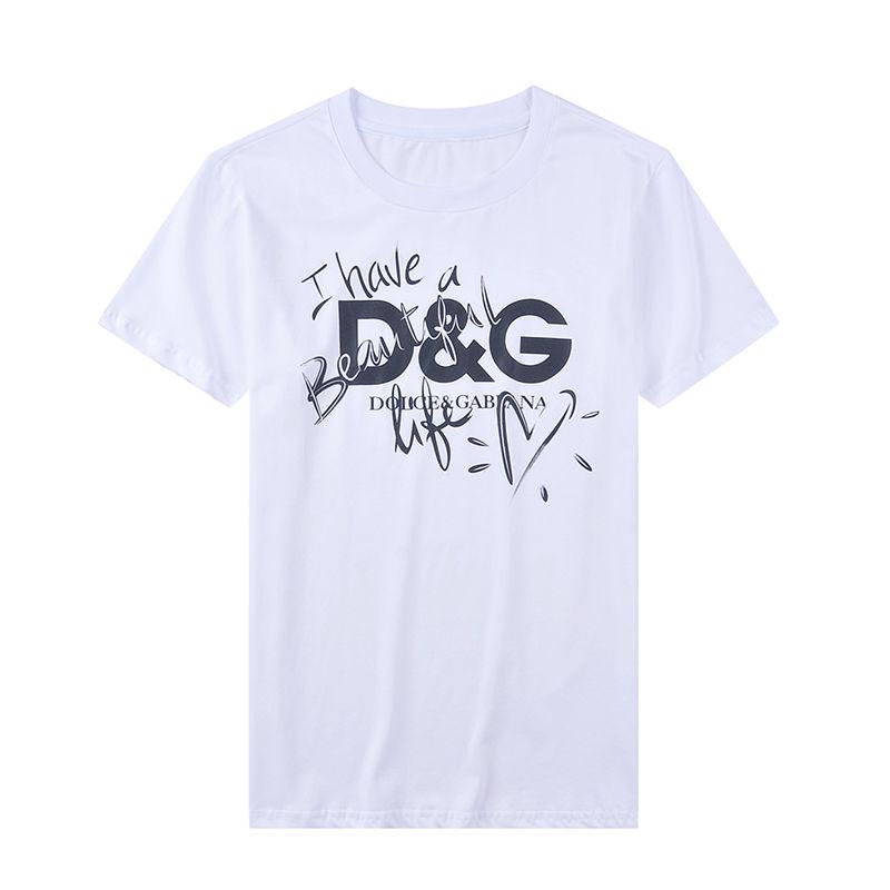 D&G dolce&gabbana ドルチェ&ガッバーナ Tシャツ レディース メンズ T-Shirt カットソー 夏ウェア 半袖 tee 2色