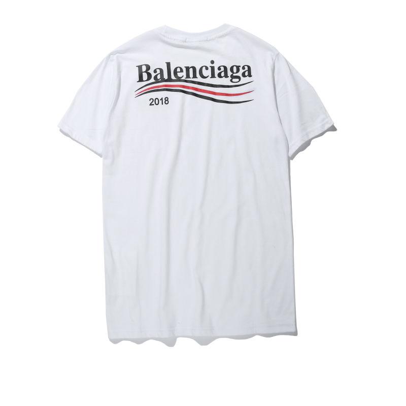 BALENCIAGA バレンシアガ メンズ ロゴ半袖Tシャツ 2018新品 カットソー  夏ウェア  4色