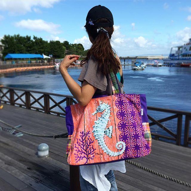 Aquatic Oversized Tote Bag アクアティック オーバーサイズトートバッグ
