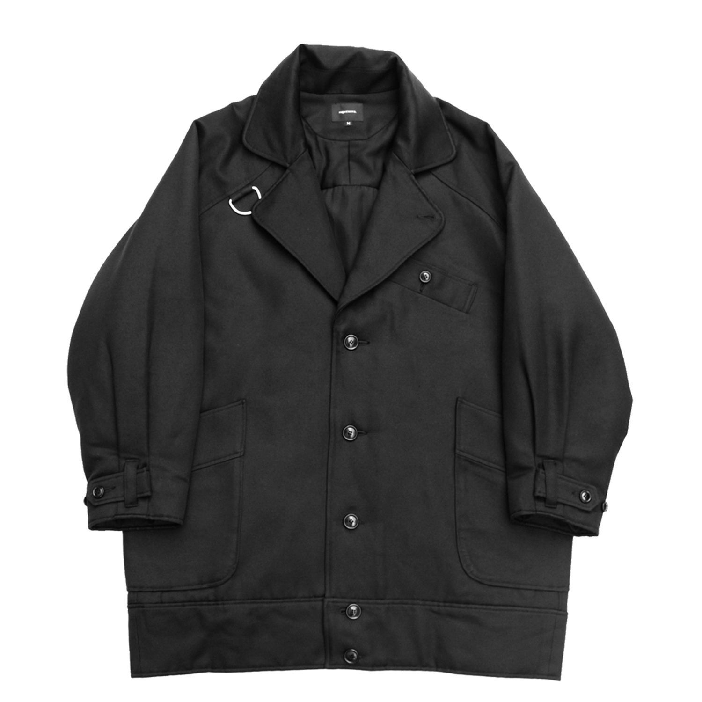 D Ring Military Coat - Wool Cupra Serge