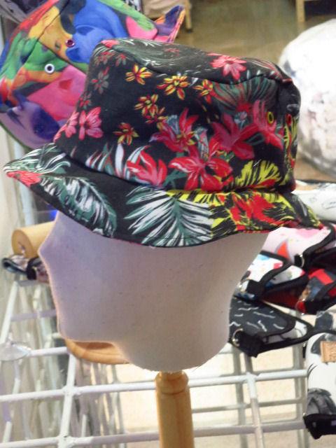 【ARAINA】花柄総柄ハット/アロハ柄帽子