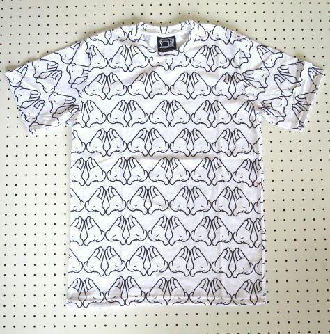 【SUBCONCIOUS】総柄Tシャツ/ミッキーマウスの手柄/Mサイズ白
