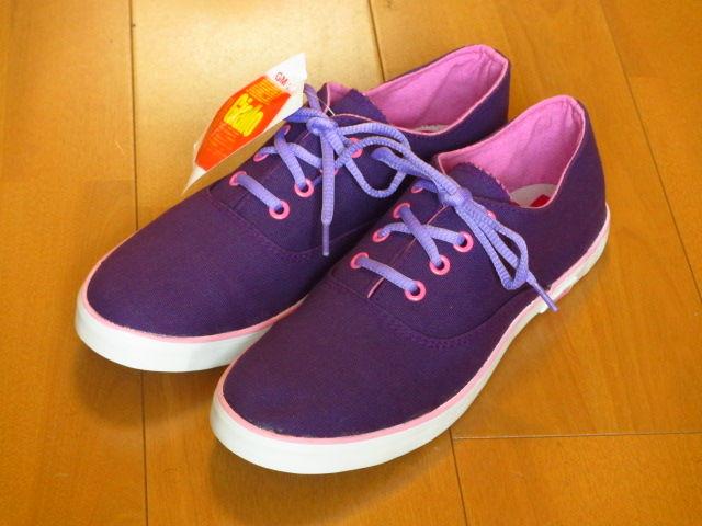 【Giallo】デッキシューズスニーカー/紫27cm28cm