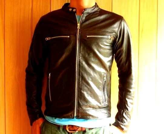 【ALLDAY】本革シングルライダースジャケット黒レザー本皮SMXLL