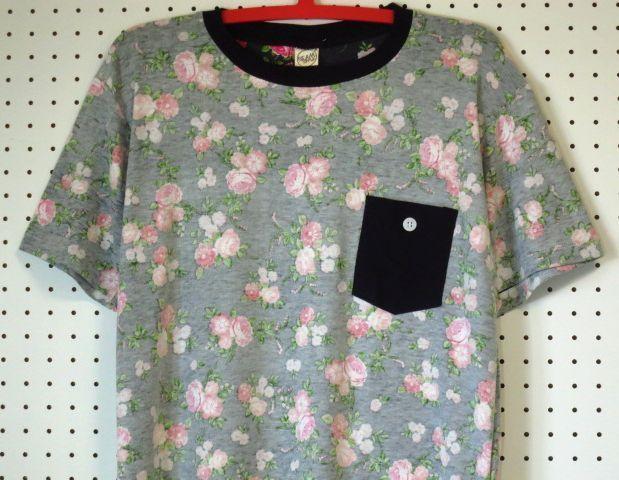 【@beamshop】胸ポケット花柄TシャツM/総柄/新品