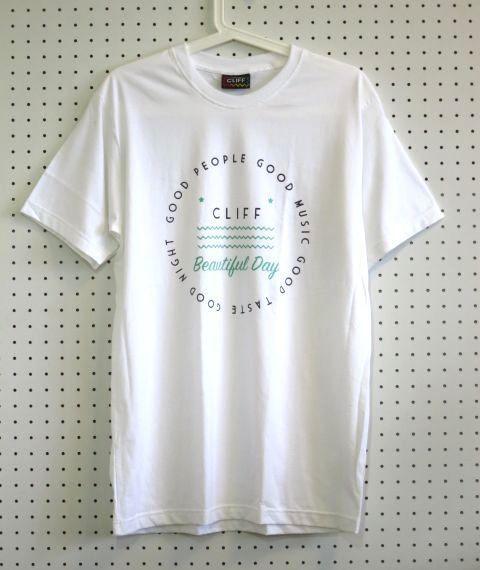 Beautiful DayTシャツ白Mサイズ【Cliff】アウトドアウェア登山トレッキングサーフィン