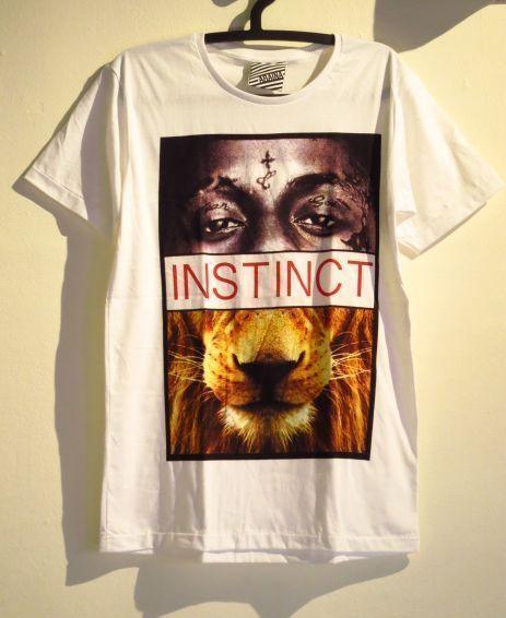 【Lil Wayne/リル・ウェイン】×ライオンパロディーTシャツ白Mサイズ