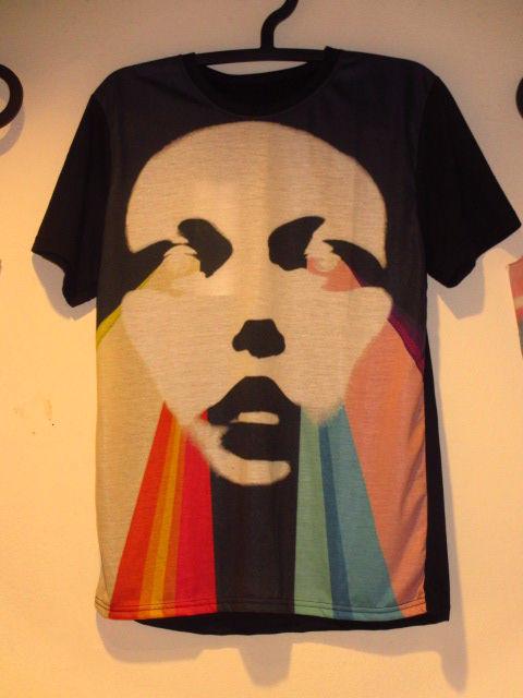 【DEADAIR】顔からレインボーTシャツML黒/新品