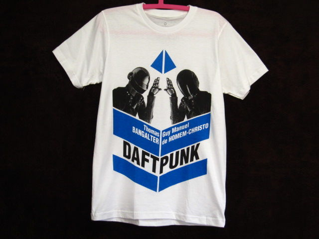 【DaftPunkダフトパンク】Tシャツ白青/SMLXL新品EDM