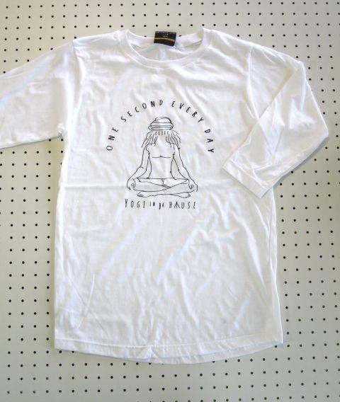 ヨガの達人デザインプリント7分袖TシャツMサイズ 【Cliff】ヨガウエアヨギーヨギーニインドyogayoggyピラティスエクササイズアウトドアウェア