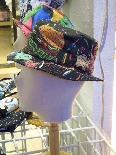 【ARAINA】ハンバーガー総柄ハット/帽子