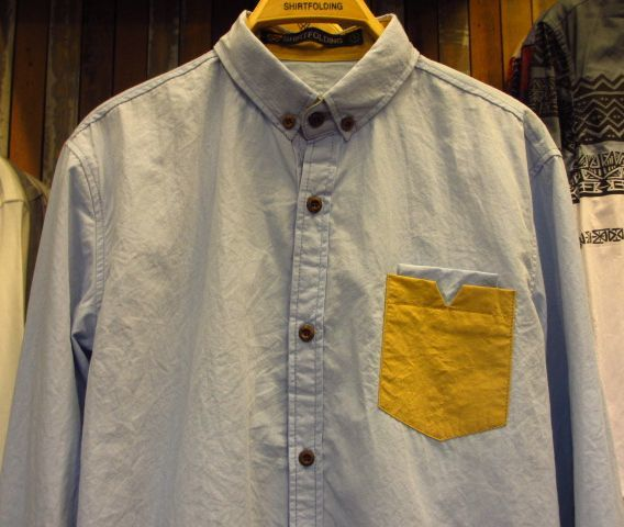 【SHIRTFOLDING】エルボーパッチ×胸ポケットボタンダウンシャツ