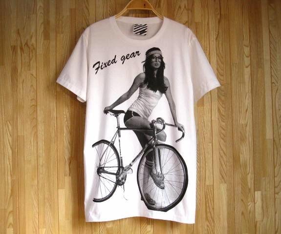 ビアンキ Bianchi ピストバイク Tシャツ 白 SMLXLXXLXXXL2XL3XL ビッグサイズ 大きいサイズ ロードバイク 競技用 自転車