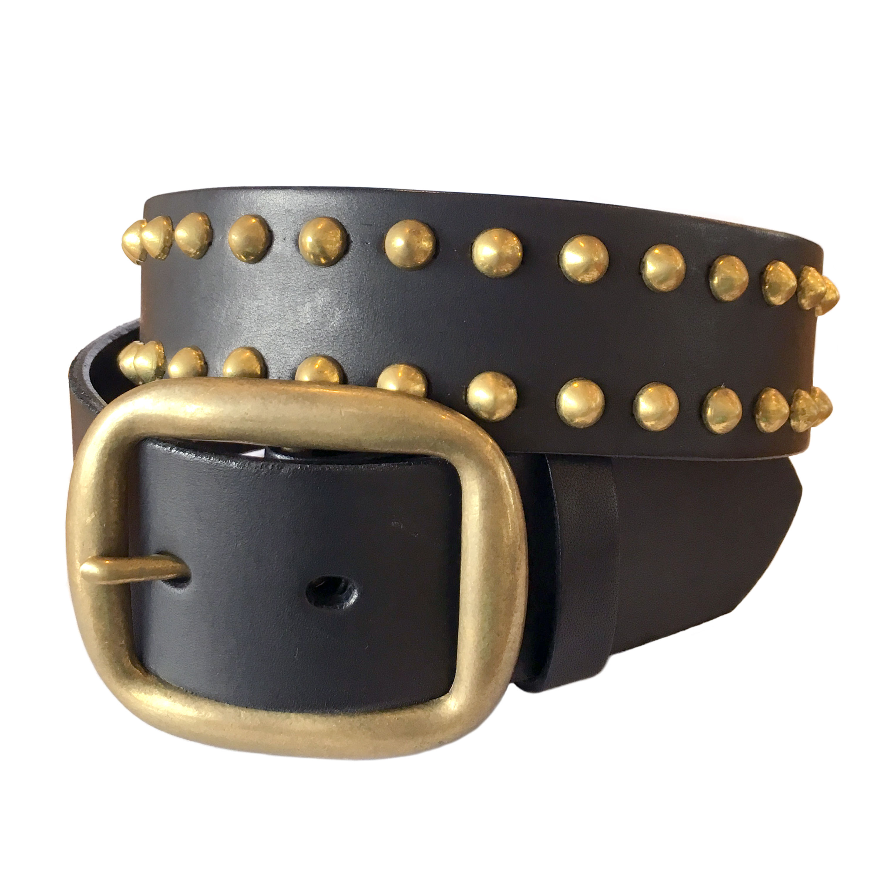 Leather Studs Belt / Black