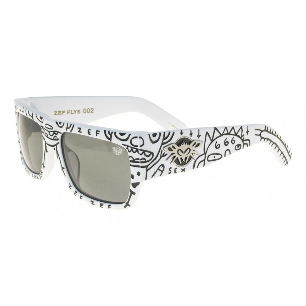 Zef Flys Limited Edition(White)/ Black Flys