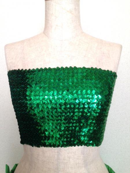 セロファンスカート,チューブトップ,スカートカバーセット 緑