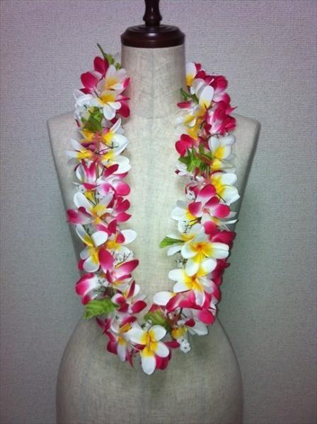 ハワイアンレイ,フラダンス衣装レイプルメリアレイピンクミックス