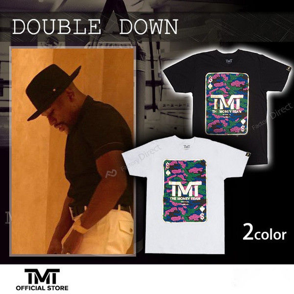 【THE MONEY TEAM】DOUBLE DOWN White T-Shirt
