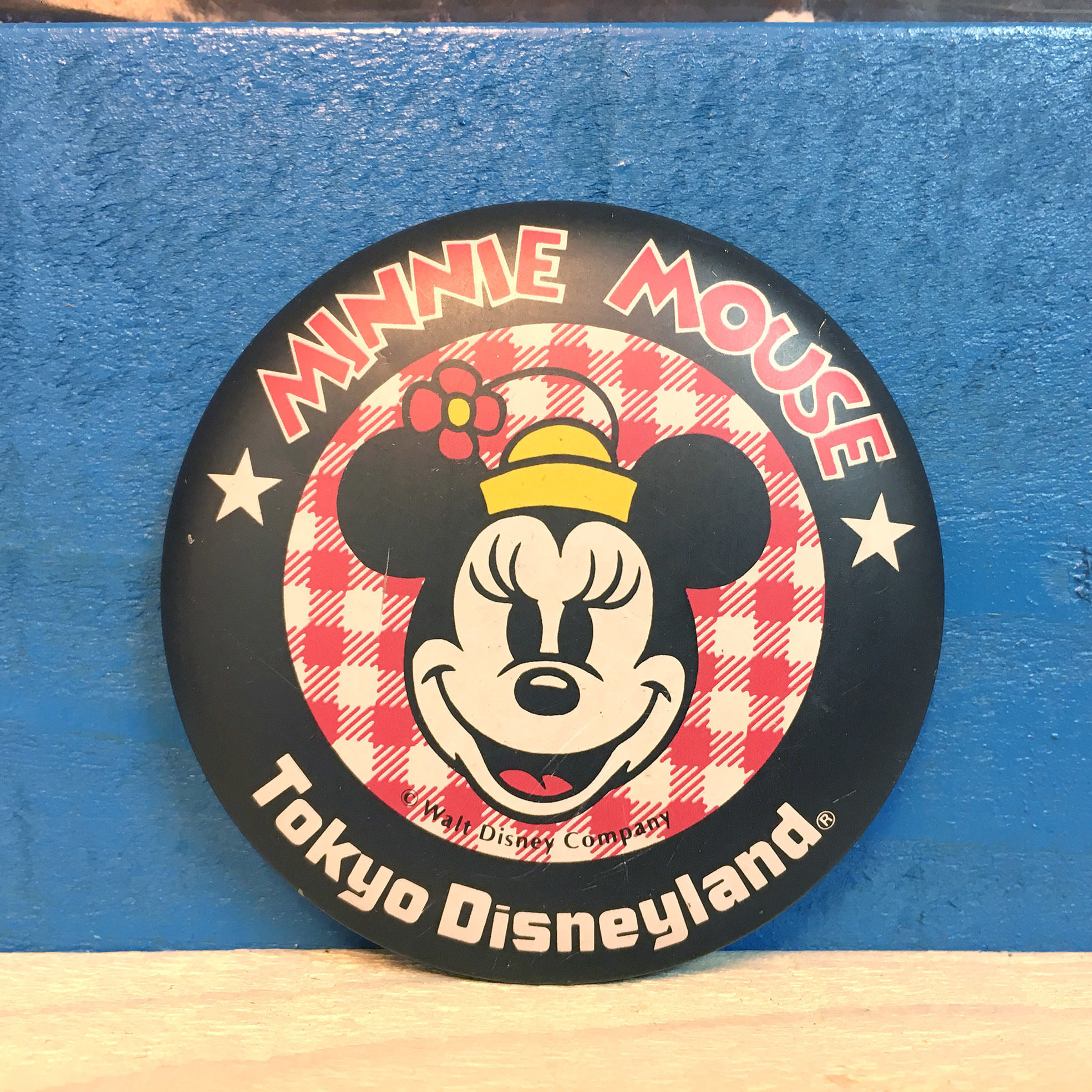 Disney TDL Minnie Mouse Button/ディズニー 東京ディズニーランド ミニー・マウス 缶バッジ/171013-9