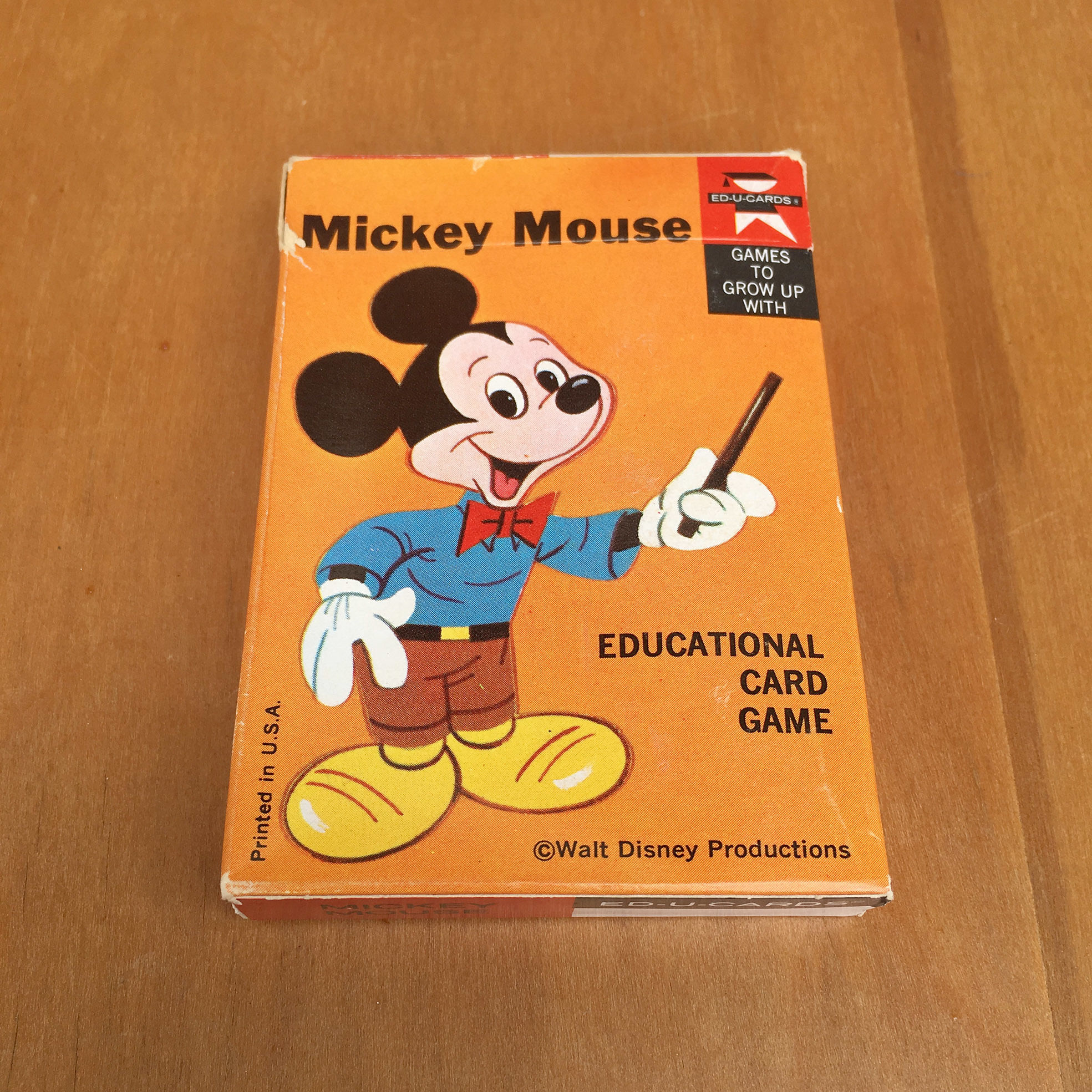 Disney Mickey Mouse Card Game/ディズニー ミッキー・マウス カードゲーム/170730-7