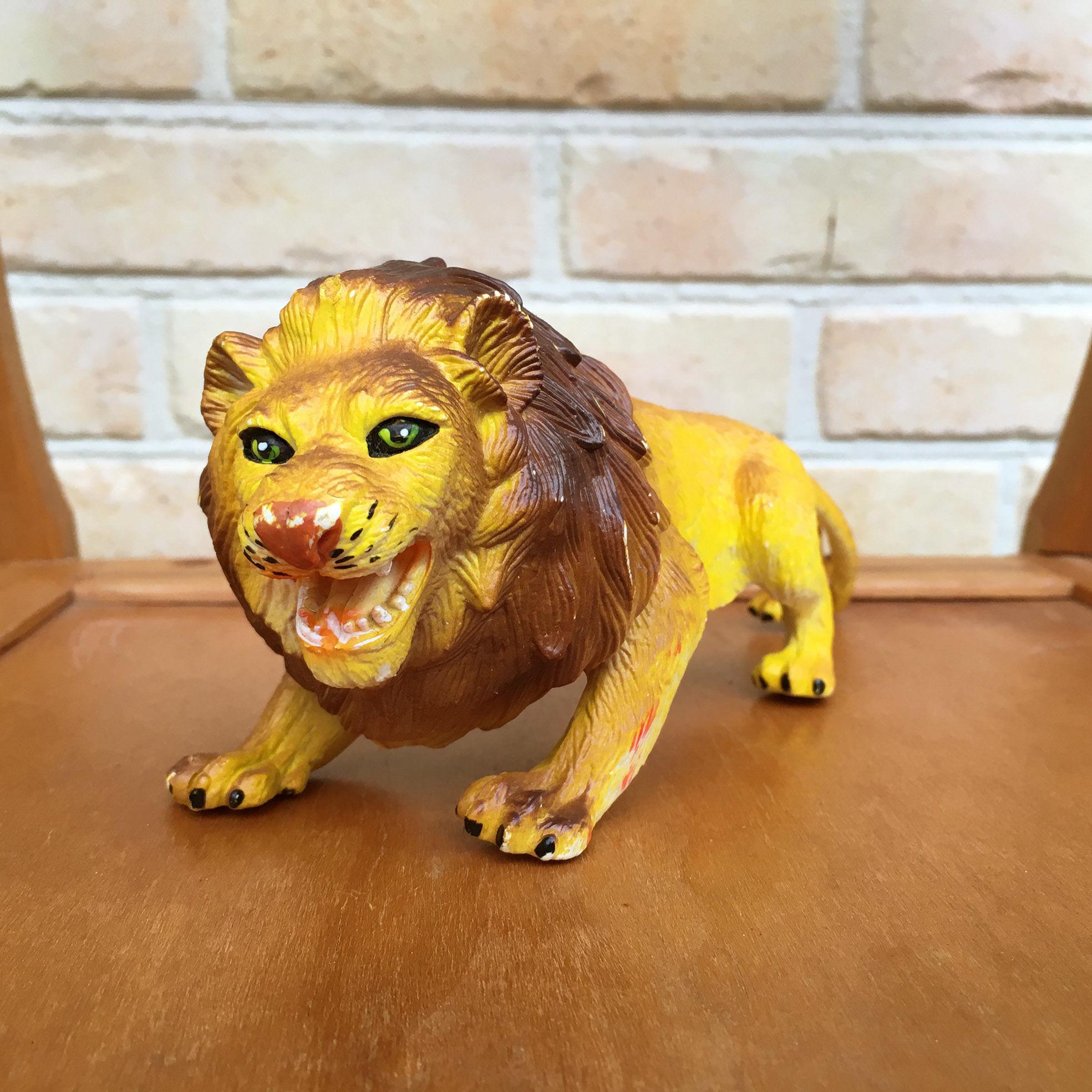 Rubber Toy Lion/ラバートイ ライオン/171111-8