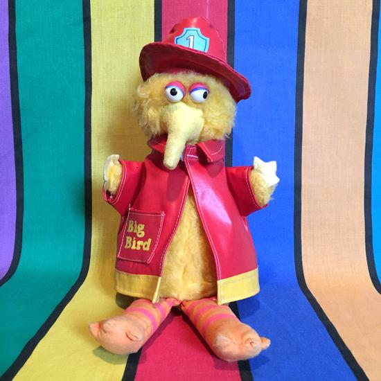 SESAME STREET FiremanBig Bird Plush/セサミストリート 消防士ビッグバード ぬいぐるみ/160310-1