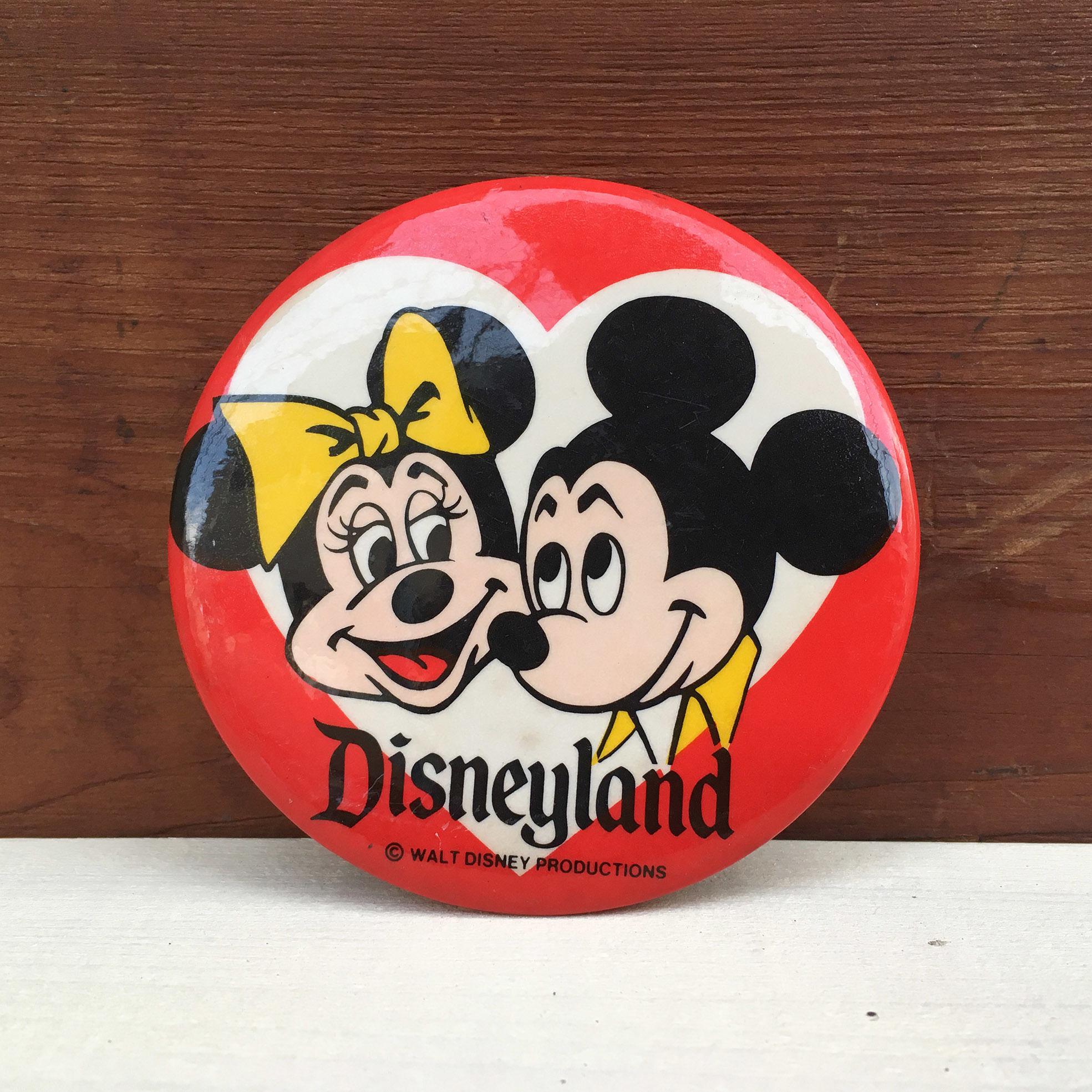 Disney Disneyland Button/ディズニー ディズニーランド 缶バッジ/171215-5