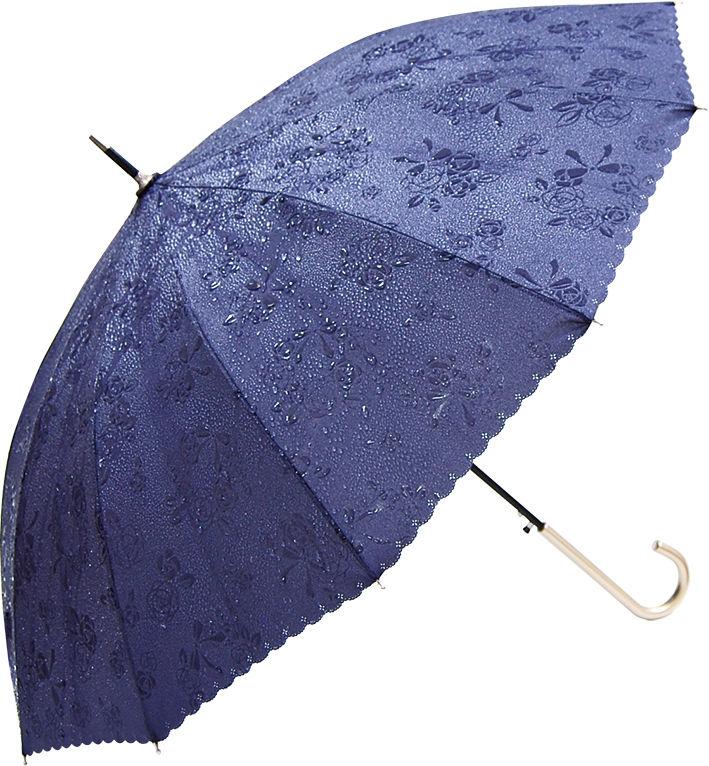 晴雨兼用 傘専門店  通販  東京  雨傘 ワンタッチ ジャンプ グラスファイバー サビない 旅傘【12本骨  浮水  ローズ  Gray 】