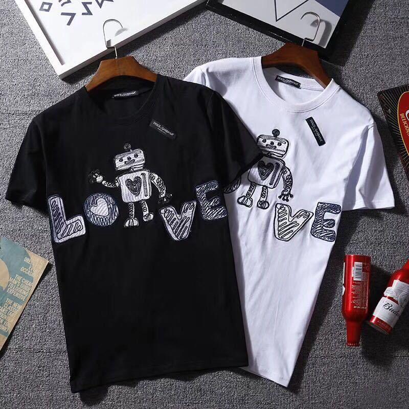 ドルチェ&ガッバーナ   Tシャツ    半袖    プリント   トップス    ima-805