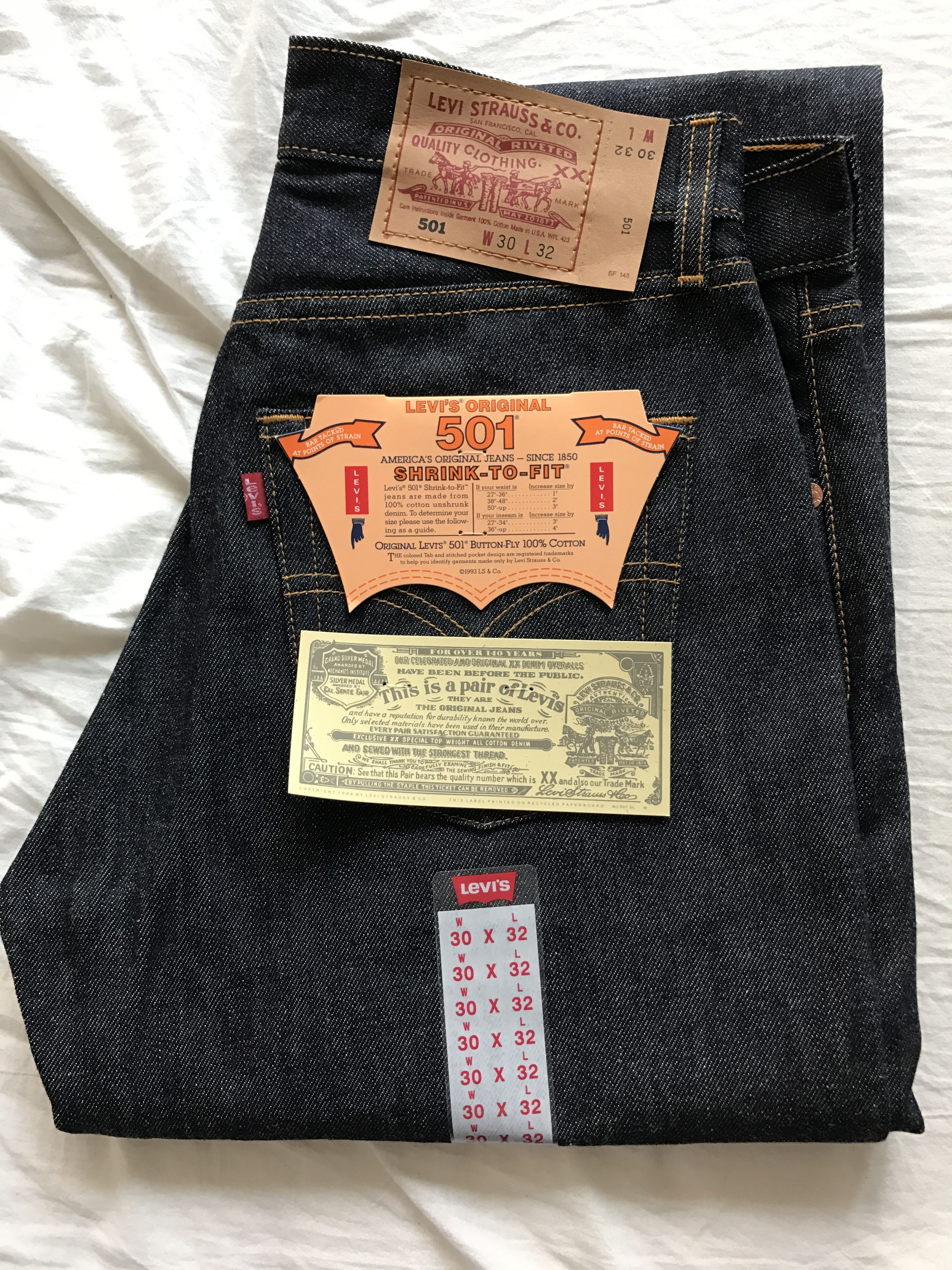 LEVIS501【MADE IN USA】デッドストック リジット