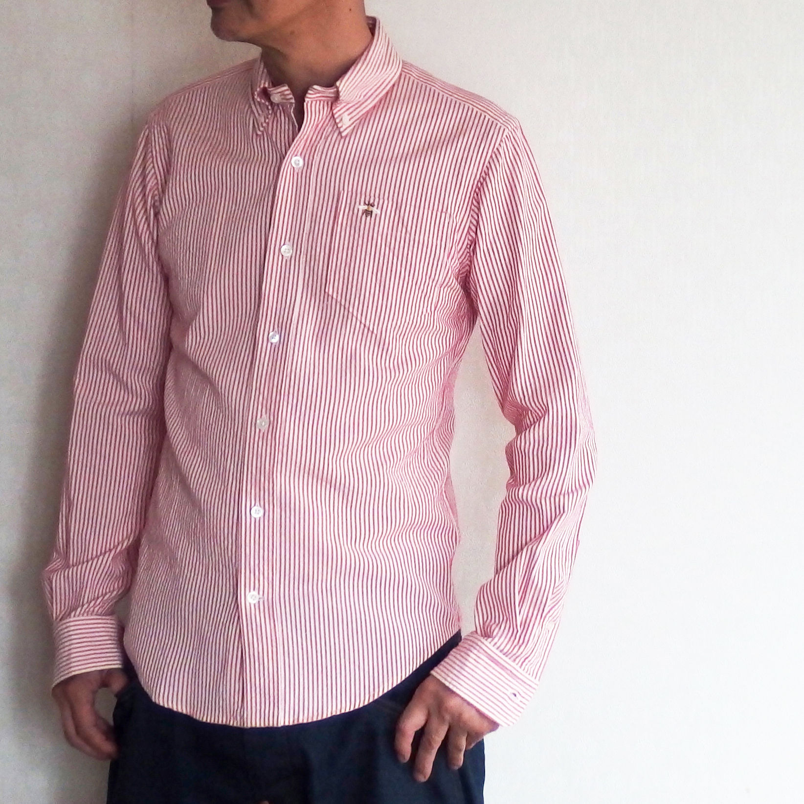 Stripe B.D.Shirt / Mens