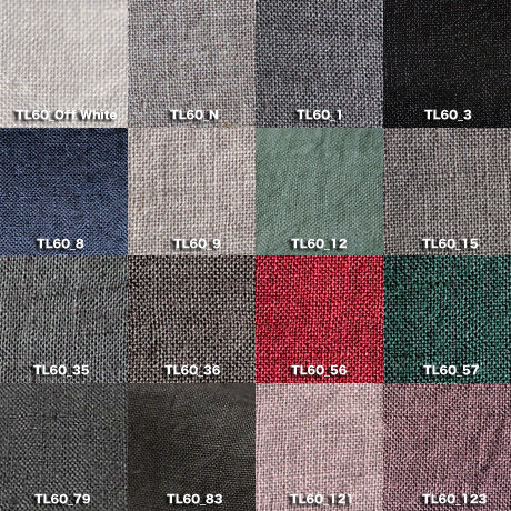 Fanage linen(天日干しリネン)100%生地 TL60  OW~123 60番手使用