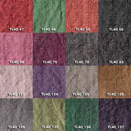 Fanage linen(天日干しリネン)100%生地 TL40 中 47~137 40番手使用