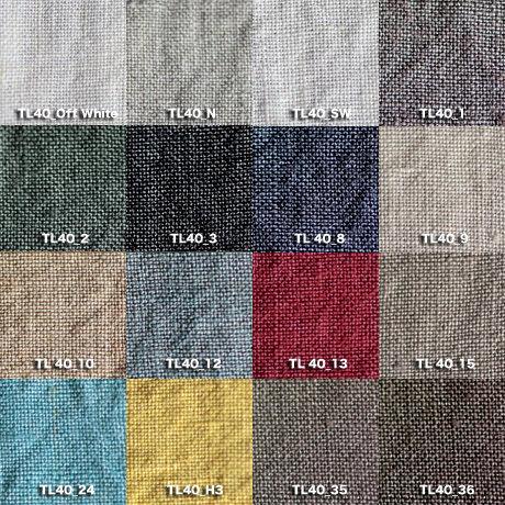 Fanage linen(天日干しリネン)100%生地  TL40  OW~36 40番手使用