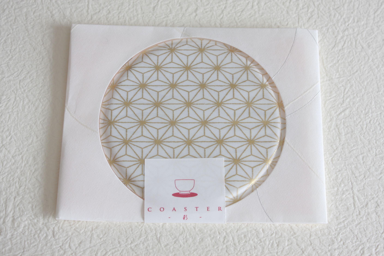 coaster-彩-(単品)セレブレーションゴールド【麻の葉】