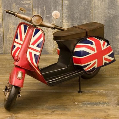 ユニオンジャック!一度は憧れたバイクのミニチュアヴィンテージカー(ビンテージ)♪UKスズメバチ♪