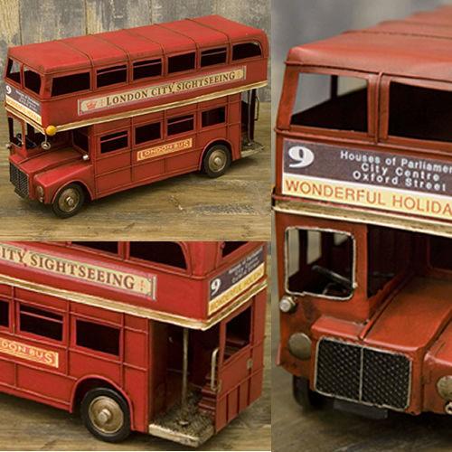 ミニチュアのヴィンテージカー(ビンテージ)♪ロンドンバス♪