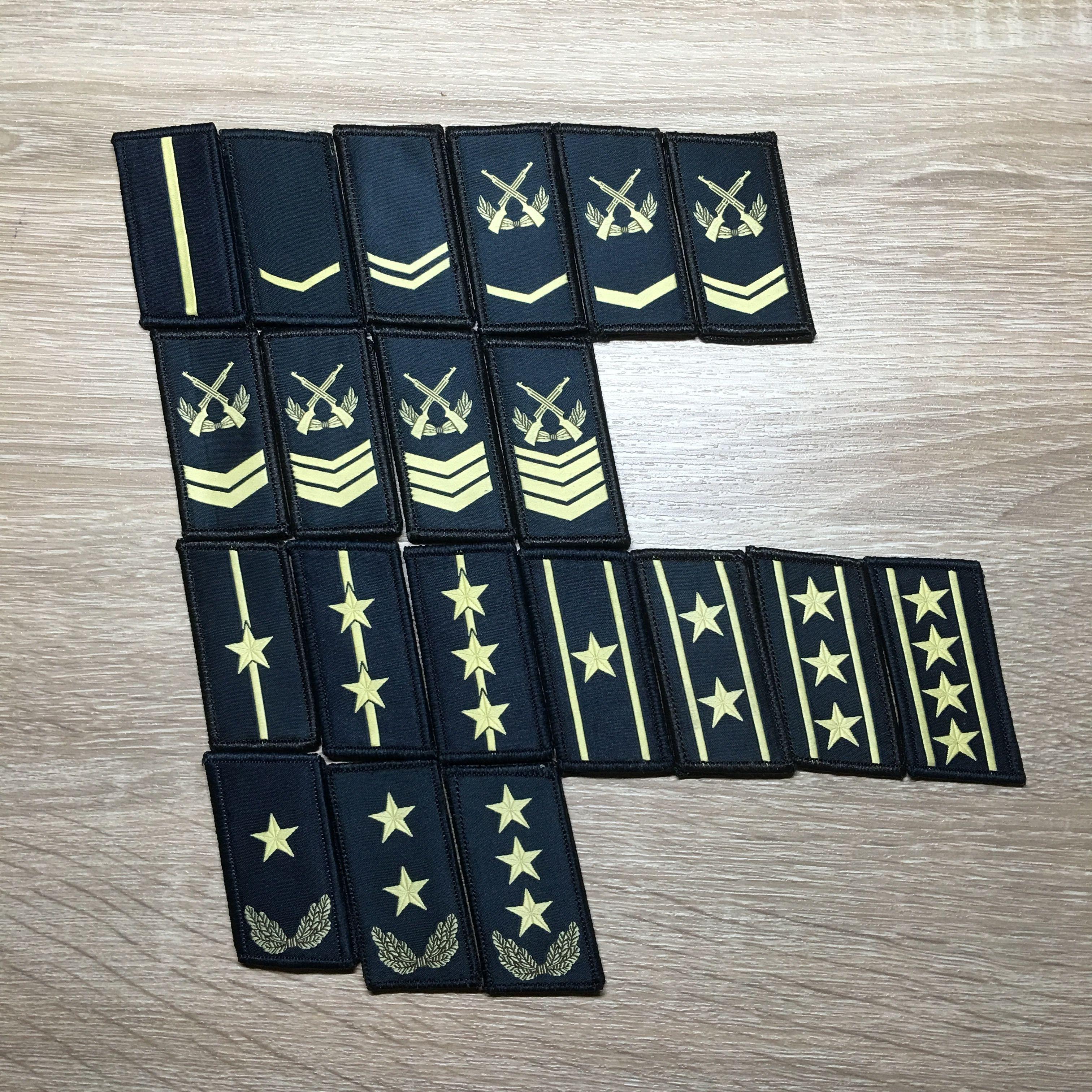 【海軍】中国人民解放軍07式迷彩服用襟章 階級章