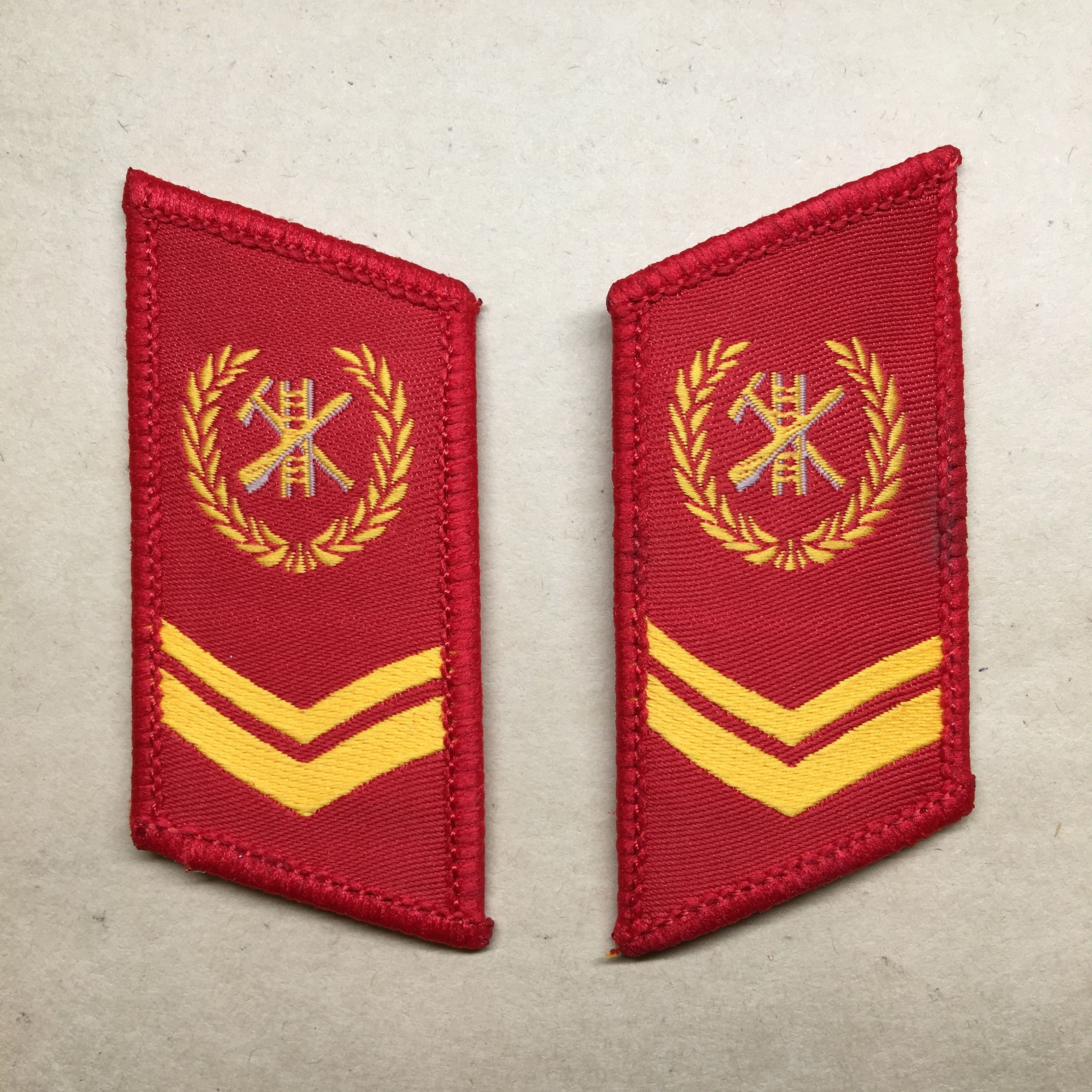 【上士】中国人民武装警察 消防士襟章