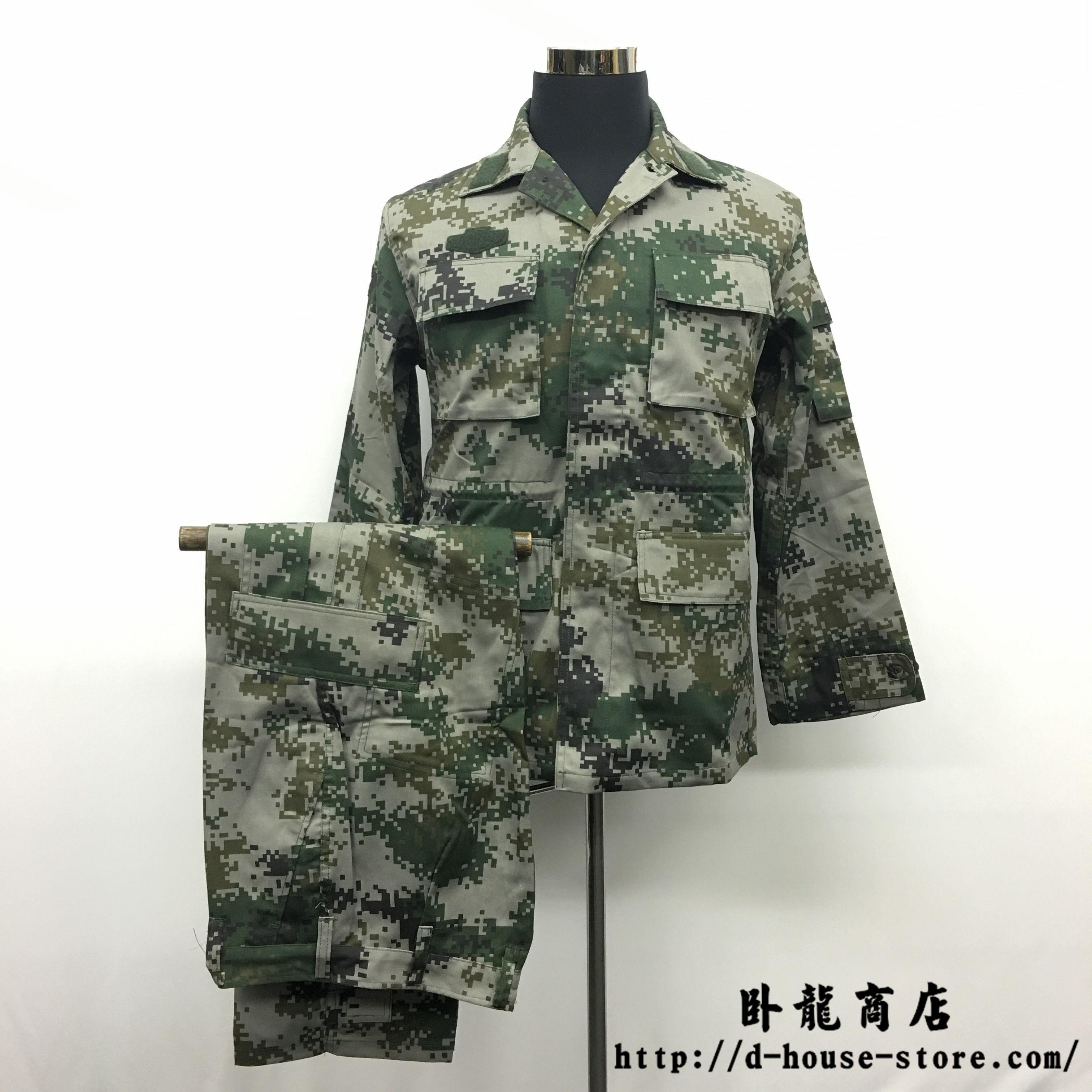 【実物保証】中国人民解放軍07式 林地迷彩 作戦服上下セット