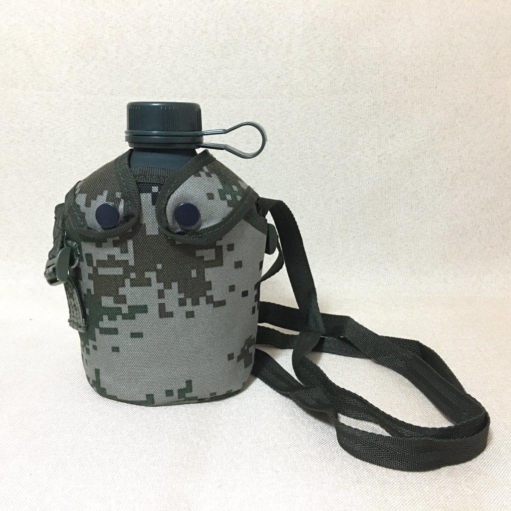 中国人民解放軍 10式水筒 林地迷彩カバー付き
