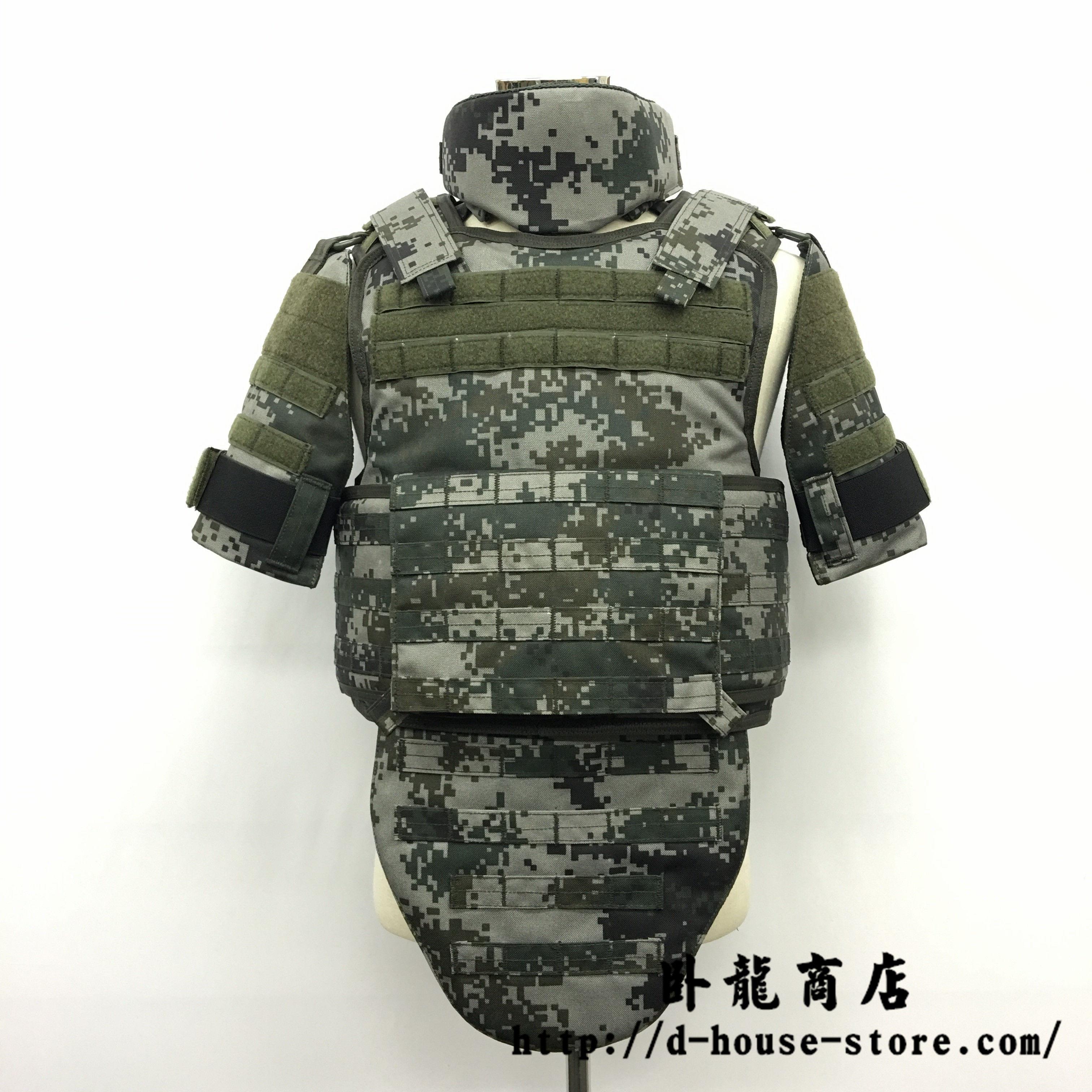 中国人民解放軍 林地迷彩 プレートキャリアー 防弾背心