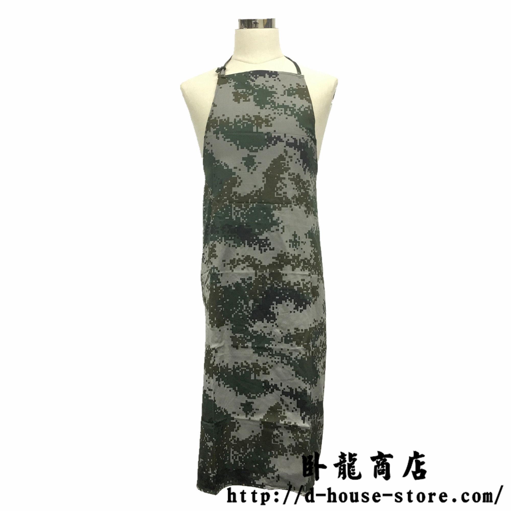 中国人民解放軍10式 陸軍炊事班エプロン 迷彩服用生地