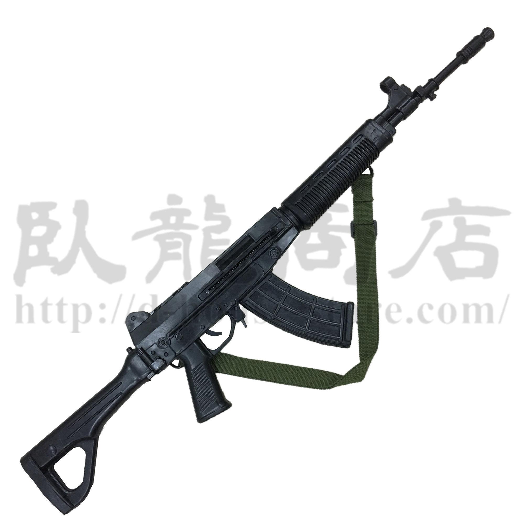 【訳あり品 1点のみ】人民解放軍 ダミーQBZー03式自動歩銃  訓練用ゴム製 ストック可動